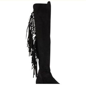 346a496741c Stuart Weitzman Shoes - Stuart Weitzman mane fringe suede boots nwb 6